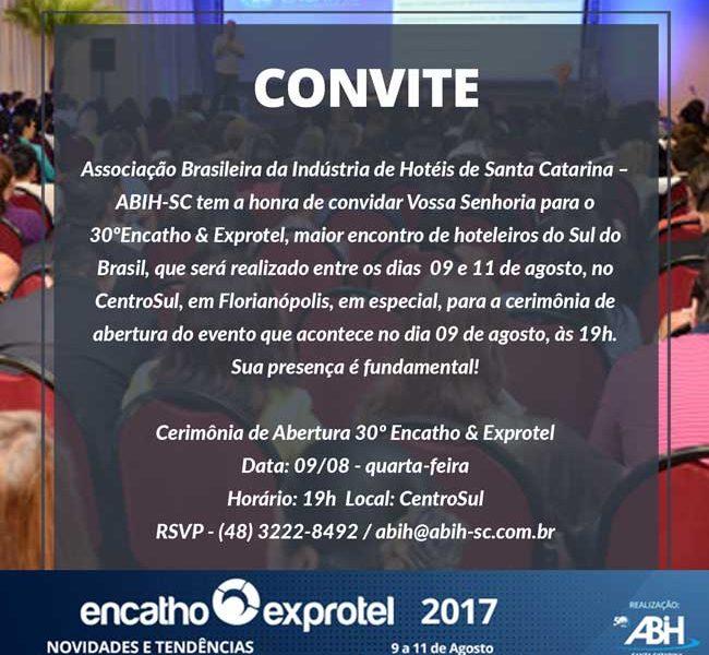 CONVITE Solenidade de Abertura 30º Encatho & Exprotel