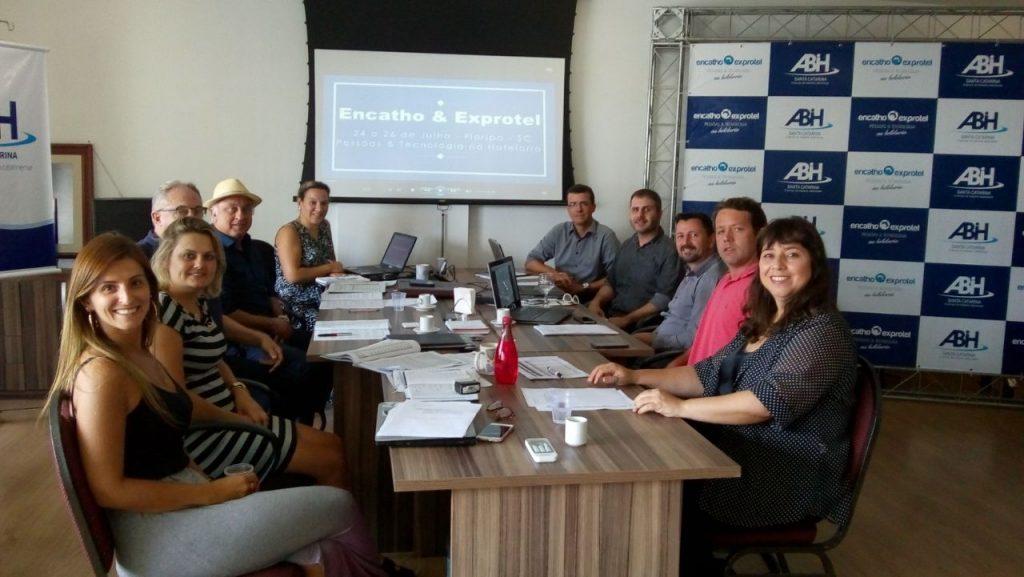 Reunião da diretoria da ABIH-SC sobre Encatho & Exprotel 2018