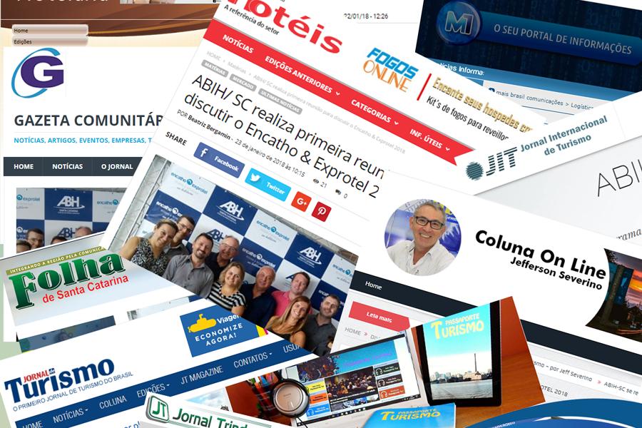 IMPRENSA: ABIH-SC e Encatho & Exprotel em destaque na mídia
