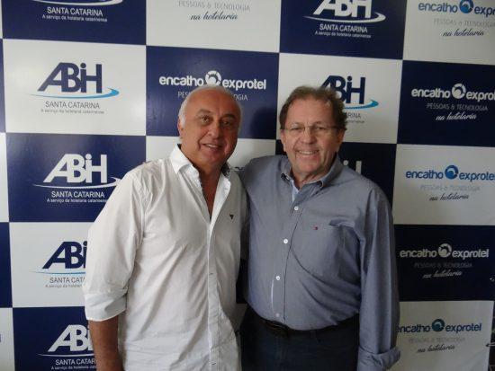 Presidente da ABIH-SC Osmar Vailatti e Presidente da SANTUR Valdir Valendowsky