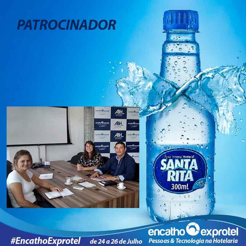 Água mineral Santa Rita Confirma patrocínio ao Encatho & Exprotel 2018