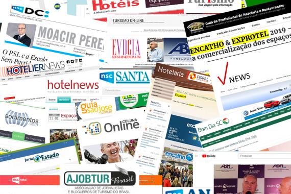 Imprensa divulga Encatho & Exprotel por todo país