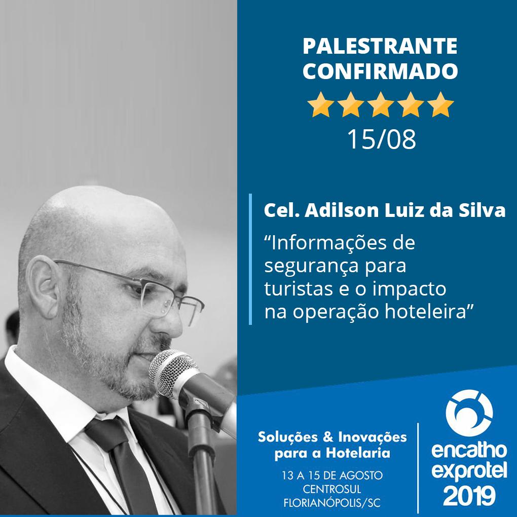 Coronel Adilson Luiz da Polícia Militar de Santa Catarina fala sobre segurança para turistas no Encatho 2019